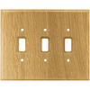 Brainerd 3-Gang Medium Oak Standard Toggle Wood Wall Plate