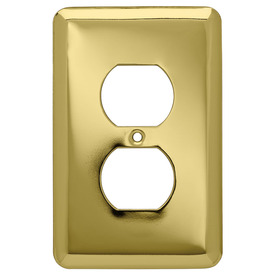 Style Selections 6-Pack 1-Gang Polished Brass Round Wall Plate