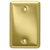 Style Selections Stamped Round 0-Gang Polished Brass Single Blank Wall Plate
