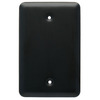 Style Selections Flat Black Finish Standard Toggle Steel Wall Plate