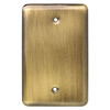 Brainerd 1-Gang Antique Brass Standard Toggle Stainless Steel Wall Plate