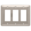 Style Selections 3-Gang Satin Nickel Decorator Rocker Steel Wall Plate