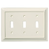 Brainerd 3-Gang Almond Standard Toggle Wood Wall Plate