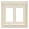 Brainerd 2-Gang Almond Decorator Rocker Wood Wall Plate