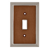 Brainerd 1-Gang Satin Nickel/Dark Caramel Standard Toggle Metal Wall Plate