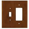 Brainerd 2-Gang Dark Oak Decorator Rocker Wood Wall Plate