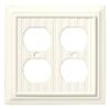 Brainerd 2-Gang Cream Standard Duplex Receptacle Wood Wall Plate