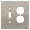 Brainerd 2-Gang Satin Nickel Decorator Duplex Receptacle Stainless Steel Wall Plate
