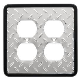 Brainerd 4-Gang Chrome Standard Toggle Steel Wall Plate