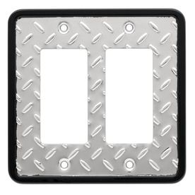 Brainerd 2-Gang Chrome Decorator Duplex Receptacle Steel Wall Plate