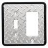 Brainerd 2-Gang Chrome Decorator Rocker Steel Wall Plate