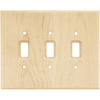 Brainerd 3-Gang Unfinished Birch Standard Toggle Wood Wall Plate