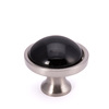 Brainerd 1-3/8-in Satin Nickel and Black Round Cabinet Knob