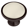 Brainerd 1-3/8-in Stb and Almond Round Cabinet Knob
