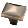 Brainerd 1-1/4-in Bronze with Copper Highlights Square Cabinet Knob