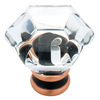 Brainerd 1-1/4-in Vbc and Clear Octangular Cabinet Knob