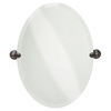Delta Providence 19-in W x 26-in H Oval Tilting Frameless Bathroom Mirror with Venetian Bronze Hardware and Beveled Edges