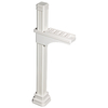 Liberty Outdoor White Traditional Full Size Square Mailbox Post Kit