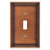 Brainerd 1-Gang Sponged Copper Standard Toggle Metal Wall Plate