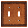 Brainerd 2-Gang Sponged Copper Standard Toggle Metal Wall Plate