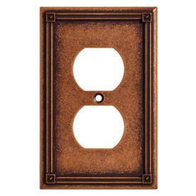 Brainerd Ruston 1-Gang Sponged Copper Single Duplex Wall Plate