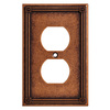 Brainerd 1-Gang Sponged Copper Round Wall Plate
