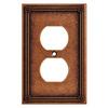 Brainerd 1-Gang Sponged Copper Standard Duplex Receptacle Metal Wall Plate