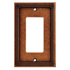 Brainerd 1-Gang Sponged Copper Decorator Rocker Metal Wall Plate