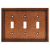 Brainerd 3-Gang Sponged Copper Standard Toggle Metal Wall Plate