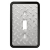 Brainerd 1-Gang Polished Chrome and Black Standard Toggle Metal Wall Plate