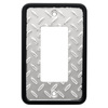 Brainerd 1-Gang Polished Chrome and Black Decorator Rocker Metal Wall Plate