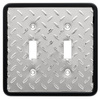 Brainerd 2-Gang Polished Chrome and Black Standard Toggle Metal Wall Plate