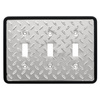 Brainerd 3-Gang Polished Chrome and Black Standard Toggle Metal Wall Plate