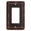 Brainerd 1-Gang Bronze with Copper Highlights Decorator Rocker Metal Wall Plate
