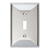 Brainerd 1-Gang Polished Chrome Standard Toggle Metal Wall Plate