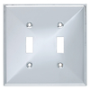 Brainerd 2-Gang Polished Chrome Standard Toggle Metal Wall Plate