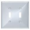 Brainerd 2-Gang Polished Chrome Standard Toggle Metal Wall Plate