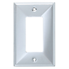 Brainerd 1-Gang Polished Chrome Decorator Rocker Metal Wall Plate