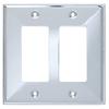 Brainerd 2-Gang Polished Chrome Decorator Wall Plate