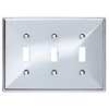 Brainerd 3-Gang Polished Chrome Standard Toggle Stainless Steel Wall Plate
