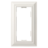 Brainerd 1-Gang White Standard Toggle Metal Wall Plate