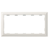Brainerd 5-Gang White Antique Standard Toggle Plastic Wall Plate