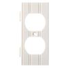 Brainerd 1-Gang White Standard Duplex Receptacle Plastic Wall Plate
