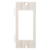 Brainerd 1-Gang White Decorator Rocker Plastic Wall Plate
