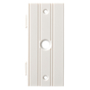 Brainerd 1-Gang White Coax Plastic Wall Plate