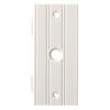 Brainerd 1-Gang White Coax Plastic Wall Plate
