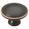 Brainerd 1-1/2-in Bronze with Copper Highlights Round Cabinet Knob