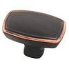 Brainerd Bronze with Copper Highlights Rectangular Cabinet Knob
