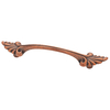 Brainerd 3-in Center-to-Center Sponged Copper Rectangular Cabinet Pull