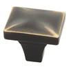 Brainerd 1-in Bronze w/Gold Highlights Square Cabinet Knob